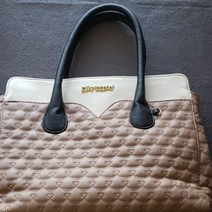 Betsey Johnson quilted heart tote